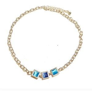 Blue Silver Necklace